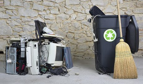 electronics from a government office to be recycled