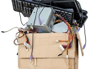 box of electronics to be recycled