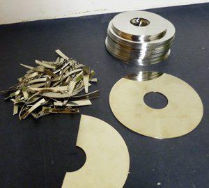 destroyed hard drive disks