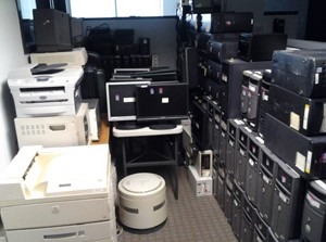 old office electronics for recycling